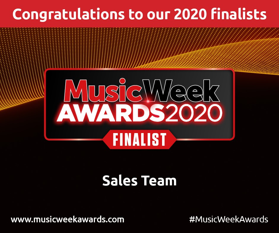 ROM SHORLISTED FOR TOP 'SALES TEAM' AT THE MUSIC WEEK AWARDS 2020